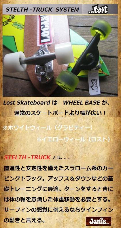 Lost SurfSkateboards (ロスト サーフスケートボード) Frash Back