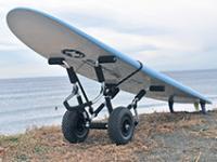 ボードドーリー パドルボードやロングボードを楽々駐車場から砂浜へ